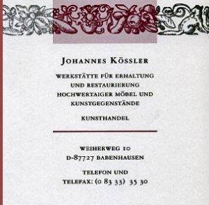 Johannes Kößler - Hochwertige antike Möbel - Möbelrestaurierung