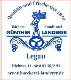 Bäckerei Konditorei Günther Landerer