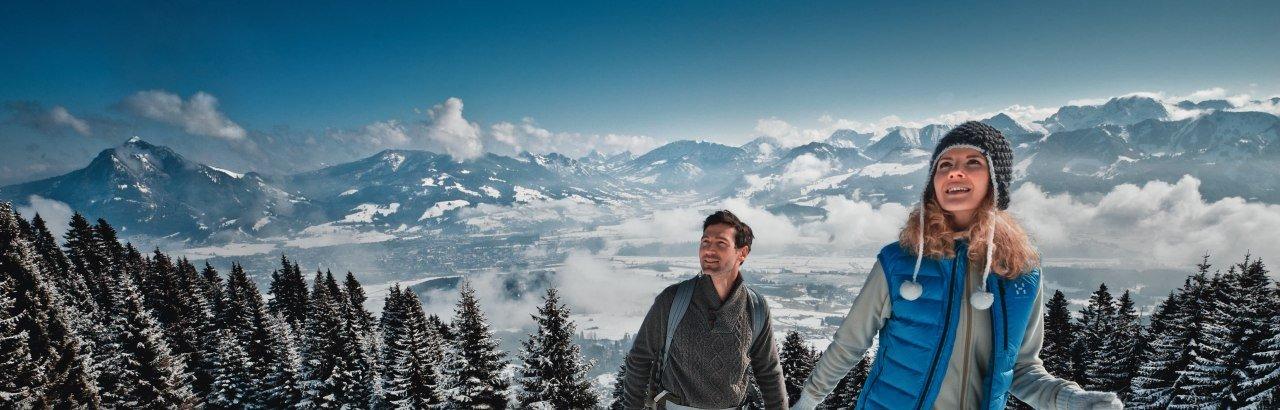 Schneeschuhwandern, Skifahren, Snowboarden, Langlauf und Skating im Allgäu © Allgäu GmbH, Marc Oeder